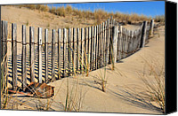 Fences Canvas Prints - Rehoboth Beach Canvas Print by JC Findley