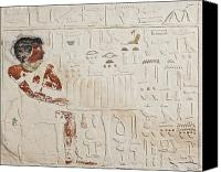 Old Reliefs Canvas Prints - Relief of Ka-aper with Offerings - Old Kingdom Canvas Print by Egyptian fourth Dynasty