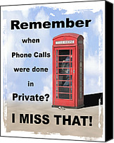 Phone Canvas Prints - Remember When . . . Canvas Print by Mike McGlothlen