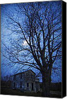 Haunted House Photo Canvas Prints - Remember When - This Old House Canvas Print by John Stephens