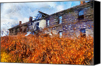 Dilapidated House Canvas Prints - Remember When Canvas Print by Lois Bryan