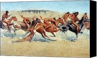 Remington Canvas Prints - Remington: Indian Warfare Canvas Print by Granger