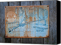 Remington Canvas Prints - Remington Rifle Canvas Print by John Poltrack