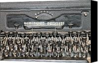 Remington Canvas Prints - Remington Typewriter Close Up Canvas Print by Pamela Walrath