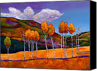 Aspen Trees Canvas Prints - Reminiscing Canvas Print by Johnathan Harris