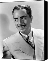 1935 Movies Canvas Prints - Rendezvous, William Powell, 1935 Canvas Print by Everett