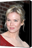 Updo Canvas Prints - Renee Zellweger At Talk Show Appearance Canvas Print by Everett