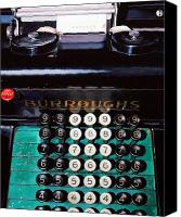 Typewriter Painting Canvas Prints - Repeat Canvas Print by Denny Bond