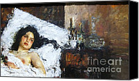 Bottles Canvas Prints - Reposo Canvas Print by Pg Reproductions