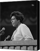 Campaign Canvas Prints - Representative Barbara Jordan Delivers Canvas Print by Everett