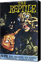 Horror Fantasy Movies Canvas Prints - Reptile, The, Poster Art For Hammer Canvas Print by Everett