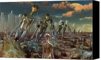 Ancestor Canvas Prints - Reptoid Aliens Discover Remnants Canvas Print by Mark Stevenson