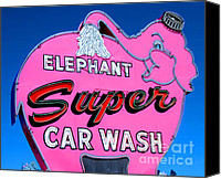 Car Wash Canvas Prints - Republican Party Sign Canvas Print by Tap On Photo