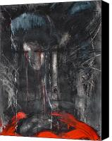 Crying Mixed Media Canvas Prints - Requiem Canvas Print by Ian MacQueen