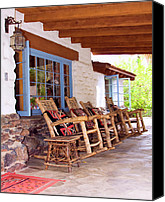 Rocking Chairs Photo Canvas Prints - RESERVED SEATING Palm Springs Canvas Print by William Dey