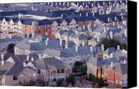 Townhomes Canvas Prints - Residential Area Canvas Print by Jeremy Woodhouse