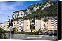 Roundabout Canvas Prints - Residential Buildings in Gibraltar Canvas Print by Artur Bogacki