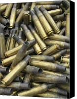 Unused Canvas Prints - Residual Ammunition Casing Materials Canvas Print by Stocktrek Images