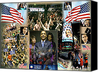 Barack And Michelle Obama Canvas Prints - Respectfully Yours..... Mr. President 2 Canvas Print by Terry Wallace
