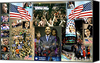 Barack And Michelle Obama Canvas Prints - Respectfully Yours..... Mr. President Canvas Print by Terry Wallace