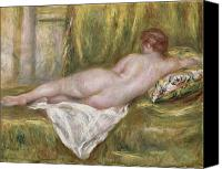 Bathroom Canvas Prints - Rest after the Bath Canvas Print by Pierre Auguste Renoir