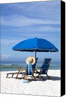 Beach Chairs Canvas Prints - Rest and Relaxation Canvas Print by Janet Fikar