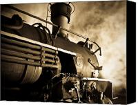 Locomotive Canvas Prints - Resting overnight Canvas Print by Patrick  Flynn