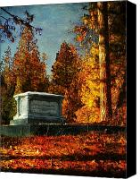 Cemetery Canvas Prints - Resting Place Canvas Print by Leah Moore