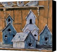Prankearts Canvas Prints - Retired Bird Houses by Prankearts Fine Arts Canvas Print by Richard T Pranke
