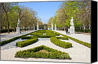 Retiro Canvas Prints - Retiro Park in Madrid Canvas Print by Artur Bogacki