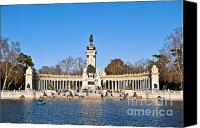 Retiro Canvas Prints - Retiro Park Madrid Canvas Print by John Greim