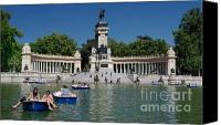 Retiro Canvas Prints - Retiro Sunday Canvas Print by Nigel Fletcher-Jones