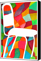 Paula Ayers Canvas Prints - Retro Dinette Chair Canvas Print by Paula Ayers