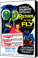 1950s Poster Art Canvas Prints - Return Of The Fly, Top Right Danielle Canvas Print by Everett