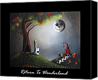 Creepy Canvas Prints - Return To Wonderland by Shawna Erback Canvas Print by Shawna Erback