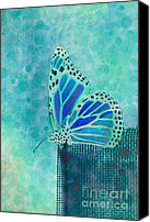 Aimelle Canvas Prints - Reve de Papillon - s02a2 Canvas Print by Variance Collections