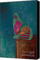 Aimelle Canvas Prints - Reve de Papillon - s04bt02 Canvas Print by Variance Collections