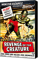 1950s Poster Art Canvas Prints - Revenge Of The Creature, 1955 Canvas Print by Everett