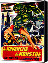 1955 Movies Canvas Prints - Revenge Of The Creature, Aka La Canvas Print by Everett