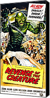 1950s Poster Art Canvas Prints - Revenge Of The Creature, As The Gill Canvas Print by Everett