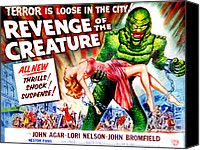 1950s Poster Art Canvas Prints - Revenge Of The Creature, Lori Nelson Canvas Print by Everett
