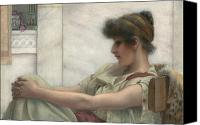 Sat Canvas Prints - Reverie Canvas Print by John William Godward
