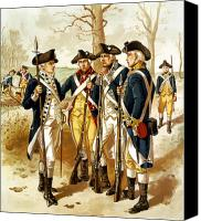 Minutemen Canvas Prints - Revolutionary War Infantry Canvas Print by War Is Hell Store