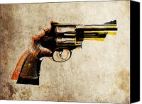 Gun Canvas Prints - Revolver Canvas Print by Michael Tompsett