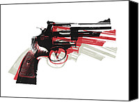 Gun Canvas Prints - Revolver on White - right facing Canvas Print by Michael Tompsett