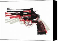 Gun Canvas Prints - Revolver on White Canvas Print by Michael Tompsett