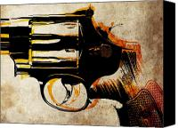 Gun Canvas Prints - Revolver Trigger Canvas Print by Michael Tompsett
