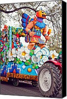 Asking Canvas Prints - Rex Mardi Gras Parade V Canvas Print by Steve Harrington
