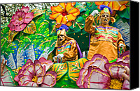 Asking Canvas Prints - Rex Mardi Gras Parade X Canvas Print by Steve Harrington