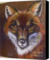 Fox Pastels Canvas Prints - Reynard Canvas Print by Deborah Colony
